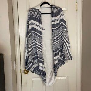 Striped fringed Shawl